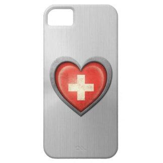 Efecto suizo del acero inoxidable de la bandera de iPhone 5 Case-Mate fundas