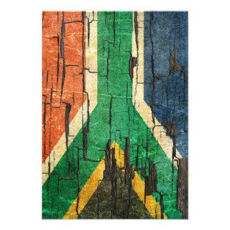 Efecto surafricano agrietado de la pintura de la p invitación