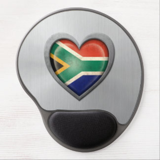 Efecto surafricano del acero inoxidable de la band alfombrilla con gel