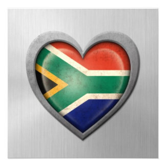 Efecto surafricano del acero inoxidable de la band invitaciones personalizada