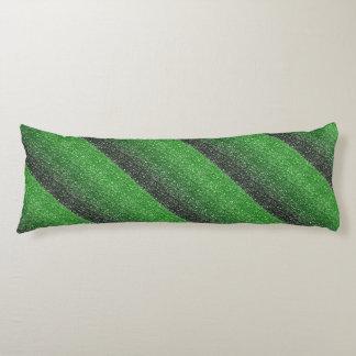 Efecto verde del brillo de Ombre Cojin Cama