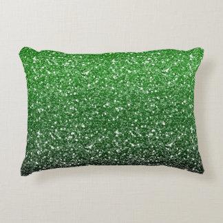 Efecto verde del brillo de Ombre Cojín Decorativo