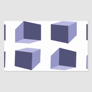 efecto visual pegatina rectangular