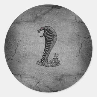 Efectos chinos frescos del negro y del metal de la etiqueta