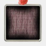 Efectos cuadrados rojo oscuro ornaments para arbol de navidad