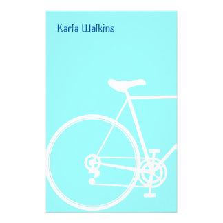 Efectos de escritorio abstractos de la bicicleta papeleria personalizada