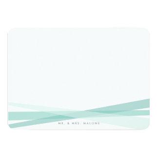 Efectos de escritorio abstractos de las cintas - invitación 12,7 x 17,8 cm