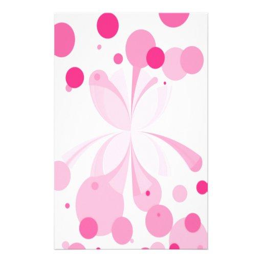 Efectos de escritorio abstractos rosados vivos de  papelería de diseño