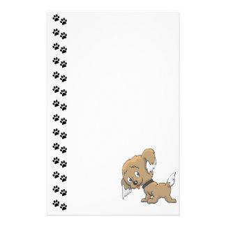 Efectos de escritorio adorables del perrito papelería de diseño