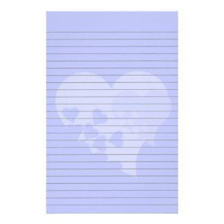 Efectos de escritorio alineados corazón azul papelería de diseño