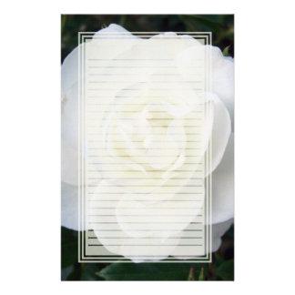 Efectos de escritorio alineados del rosa blanco papeleria