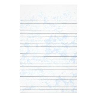 Efectos de escritorio alineados hielo azul  papeleria