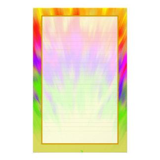 Efectos de escritorio alineados multa colorida de papeleria de diseño