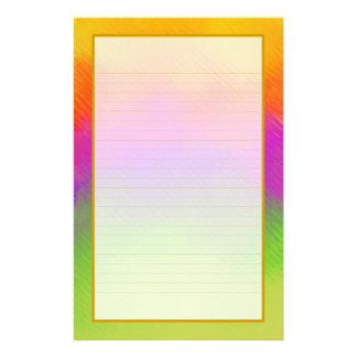 Efectos de escritorio alineados multa colorida de papelería de diseño