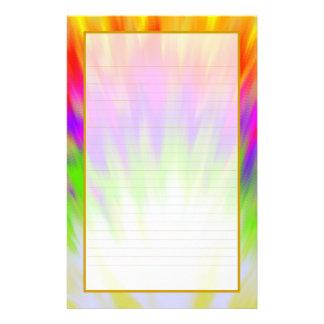 Efectos de escritorio alineados multa colorida de personalized stationery