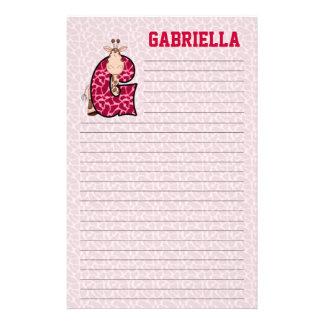 Efectos de escritorio alineados rosados de Mongram Papeleria De Diseño