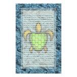 Efectos de escritorio alineados tortuga verde de S Papeleria