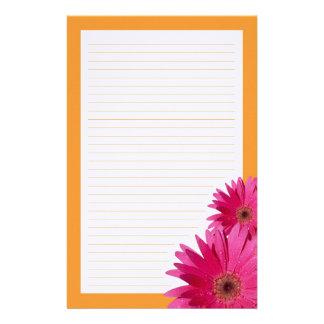 Efectos de escritorio anaranjados de la frontera personalized stationery