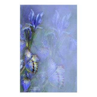 Efectos de escritorio azules de la diosa  papeleria de diseño