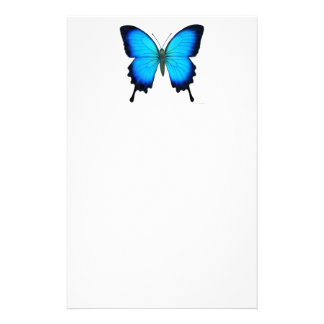 Efectos de escritorio azules de la mariposa de Pap Papelería De Diseño