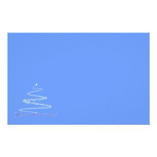 Efectos de escritorio azules de las Felices Navida Papelería De Diseño
