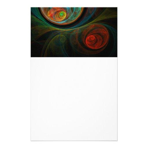 Efectos de escritorio azules del arte abstracto papeleria personalizada