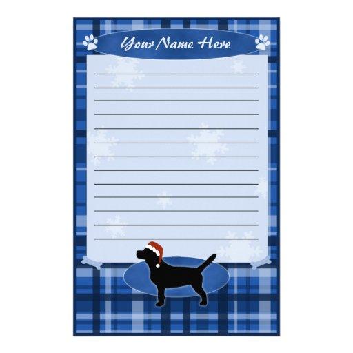 Efectos de escritorio azules del beagle del navida  papeleria de diseño