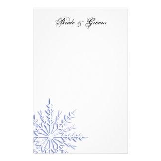 Efectos de escritorio azules del boda del invierno  papeleria de diseño
