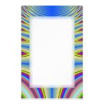 Efectos de escritorio azules del fractal del teñid papeleria personalizada