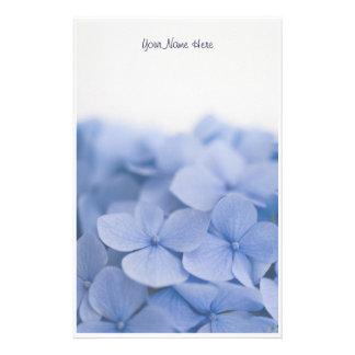 Efectos de escritorio azules del Hydrangea Papelería Personalizada