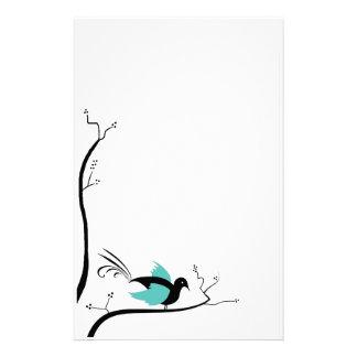 Efectos de escritorio azules del pájaro del amor  papeleria