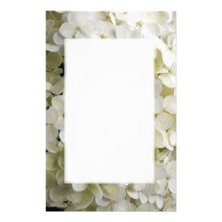 Efectos de escritorio blancos del flor del Hydrang Papelería De Diseño