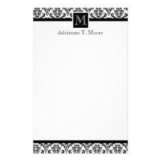Efectos de escritorio blancos negros elegantes de  papeleria de diseño