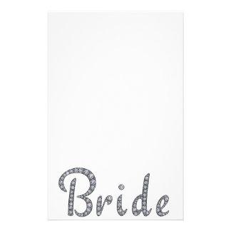 Efectos de escritorio bling de la novia papeleria