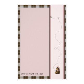 Efectos de escritorio bonitos de la tela escocesa papelería personalizada