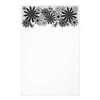 Efectos de escritorio brillantes florales de la di papeleria de diseño