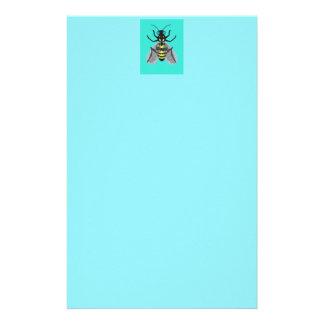 Efectos de escritorio coloridos de la abeja  papeleria de diseño