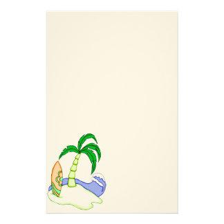 Efectos de escritorio coloridos de la isla 6 de la  papeleria