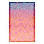 Efectos de escritorio coloridos de los corazones papelería personalizada