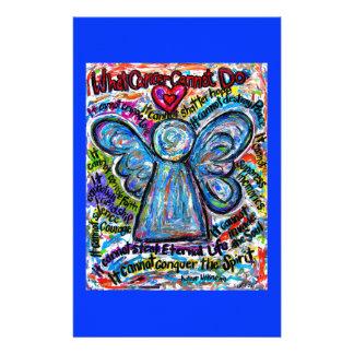 Efectos de escritorio coloridos del ángel del cánc personalized stationery