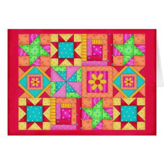 Efectos de escritorio coloridos del arte del tarjeta pequeña