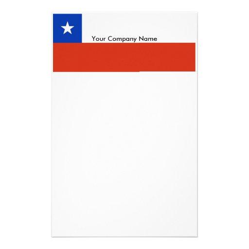 Efectos de escritorio con la bandera de Chile Papelería Personalizada