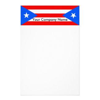 Efectos de escritorio con la bandera de Puerto Ric Personalized Stationery