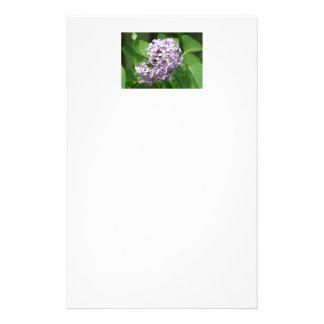 efectos de escritorio con la foto de lilas papelería personalizada