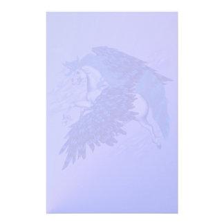 Efectos de escritorio cons alas del unicornio papeleria