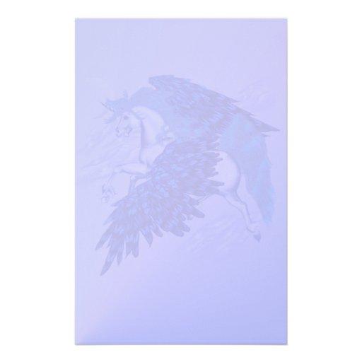 Efectos de escritorio cons alas del unicornio papelería personalizada