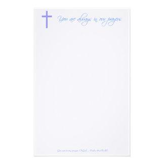 Efectos de escritorio cristianos del rezo papelería