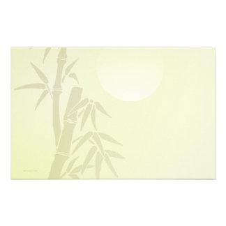 Efectos de escritorio de bambú de la luna papeleria