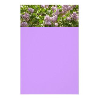 Efectos de escritorio de Bush de lila Personalized Stationery