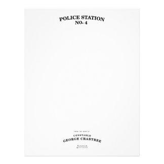 Efectos de escritorio de Crabtree del policía Membretes Personalizados